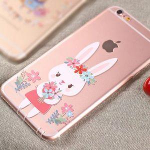 iPhone_Case_BunnyHoldingFlowers